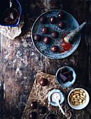 Chocolate truffles with chilli powder