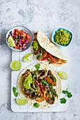 Mexikanische Rindfleisch-Fajitas