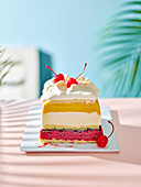 California Cool Club Tropicana ice cream cake