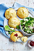 Chicken, Brie and Cranberry Pies