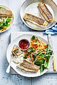 Crispy Fish with Buckwheat Salad
