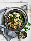 Roast Trout, Fennel and Buckwheat Salad