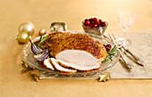 Roast turkey for Christmas dinner
