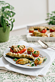Verdure ripiene alla sanremese (stuffed vegetables), Liguria, Italy