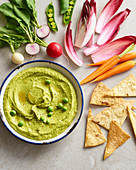 Minted Peas And Broad Bean Hummus