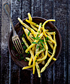 Wax beans with savory