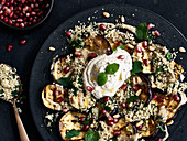 Grilled aubergines with date cream