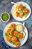 Potato and sardines latkes