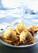 Pain D'Epices with ice cream