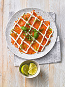Salmon trout carpaccio