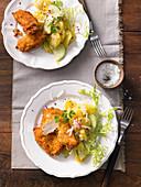 Backhendl mit Kartoffelsalat