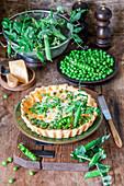 Peas cheese tart
