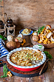 Mushroom potato bake