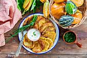 Pumpkin potato fritters (draniki)