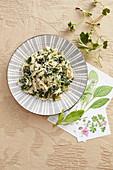 Strangozzi with wild herbs (Umbria, Italy)