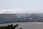 Coastal defences during Typhoon Usagi