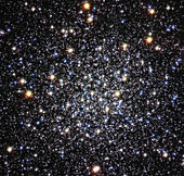 Messier 12 globular star cluster,Hubble image