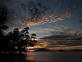 Sunset on the Ceram Sea,Indonesia