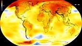 Global warming record,2000-2004