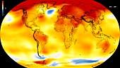 Global warming record,2014-2018