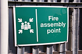 Fire assembly point notice