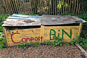 Compost bin at allotments