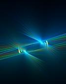 Spectral light beams