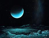 Uranus from Miranda,illustration