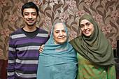 South Asian family portrait