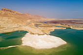 Dead Sea canal,aerial photograph