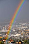 Rainbow over Haifa,Israel