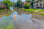 Flooding,Detroit,USA