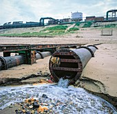 Outflow to sea from chemical works.
