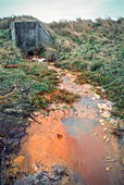 Outflow of toxic effluent.
