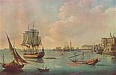 English Men o' War in Malta Harbour', c1805