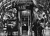 The midship gunners of an RAF flying boat, c1940