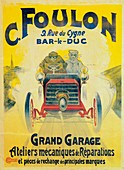 Advertisement for C Foulon's Garage, France, c1900