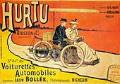 Advertisement for Hurtu cars, c1896