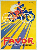 Advertisement for Favor bicycles and motorcycles, 1927