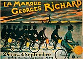 Advertisement for Georges Richard bicycles, c1900