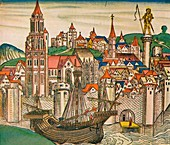 The City of Treviso with a Carrack, 1493
