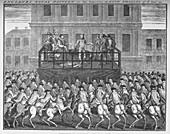 The execution of King Charles I, 30 January 1649, c1735