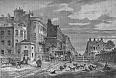 Tyburn Turnpike, Westminster, London, 1820 (1878)