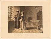 Sir Thomas More and his Daughter Margaret, (1878)