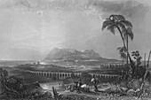 Gibraltar, From Algeziras, 1840
