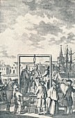 A Pirate hanged at Execution Dock, c1795