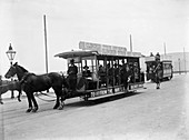 Horse bus at the RAC TT race, Isle of Man, 10 June 1914