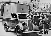 Ford E83W 10cwt Emergency food van in London World War 2