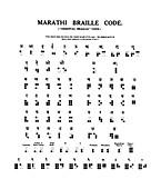Marathi Braille Code, 1919