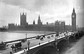 Houses of Parliament and Westminster Bridge, 1919